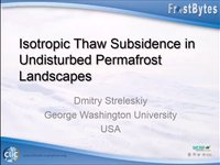 D. Streleskiy: Isotropic Thaw Subsidence in undisturbed permafrost landscapes