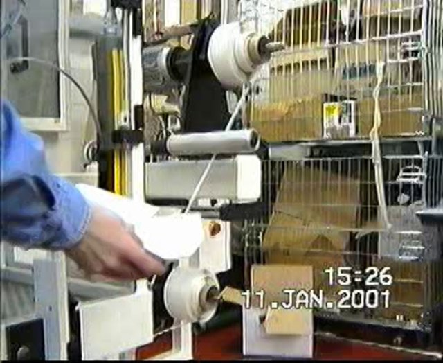Stamp Turret Rewinder - with coil banding