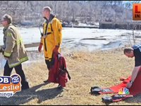 Rescuers Save Boys From Frozen River