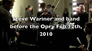 Steve Wariner Backstage at the Opry Feb 12, 2010