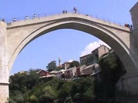 Mostar's Reconstructed Historic Old Bridge, Bosnia and Herzegovina