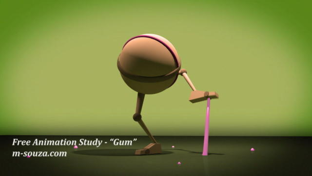 Free Animation Study - Gum