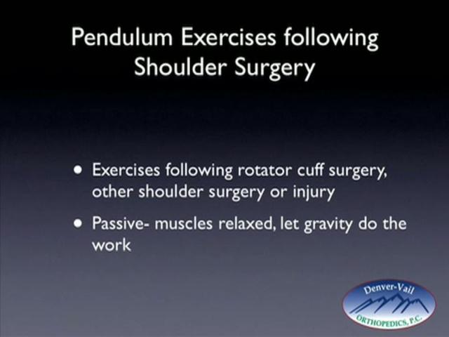 Shoulder Exercises Post Rotator Cuff Surgery
