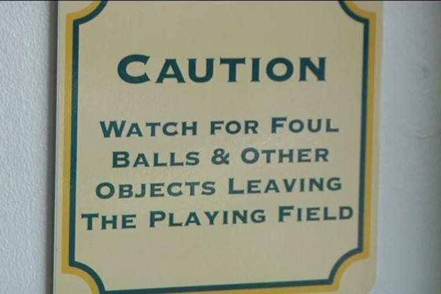 foul ball sign