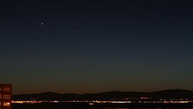 Conjunción de Venus y Mercurio Abril 2010