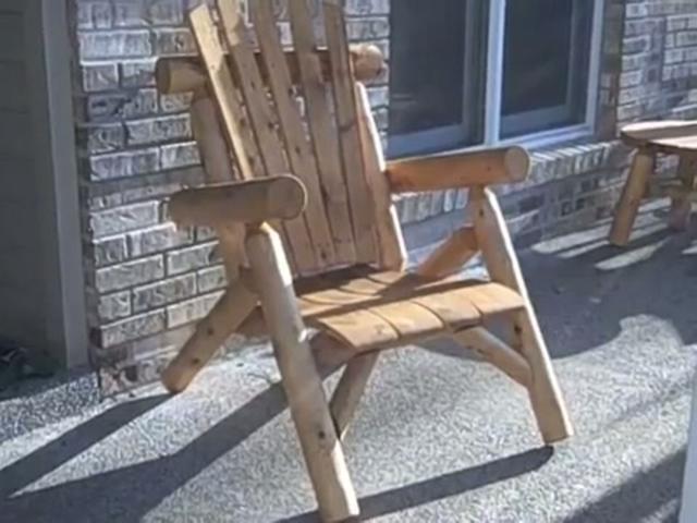 Outdoor Cedar Log Lounge Chair Cf1126 Outdoor Log Furniture On Vimeo