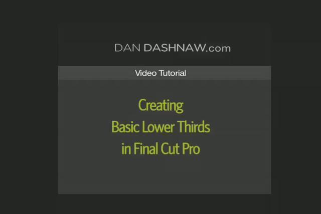 Create Lower Thirds