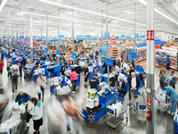Time-Lapse: A Day at A Walmart Store
