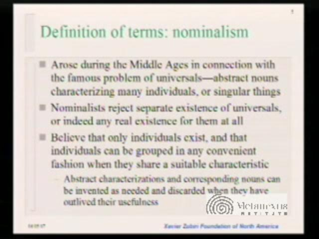 """metaphysics and nominalism For whether or not there are universals, and what they are if they are, has  or  when one speaks of """"platonic metaphysics"""", one normally means something like ."""