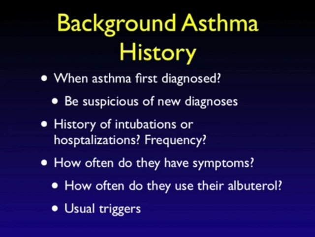 Approach to the Asthma Patient