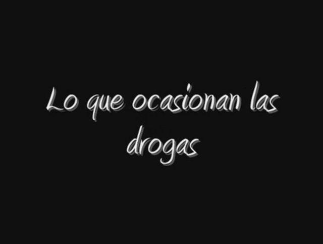 Lo que ocasionan las drogas on Vimeo