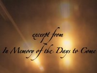 In Memory of Days to Come Excerpt