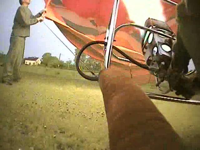Speeded Up Hot Air Balloon Flight