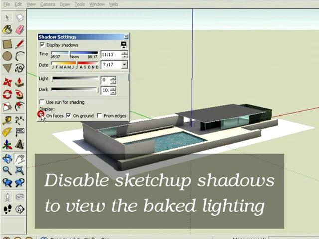 Sketchup tutorial - Howto use a tbaking model