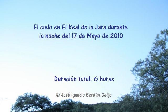 Timelapse Real de la Jara 17/05/10