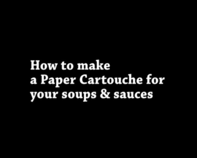 pimp that food clip no 9 how to make a paper cartouche on vimeo. Black Bedroom Furniture Sets. Home Design Ideas