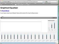 Web Audio Data API - JavaScript Graphic Equalizer