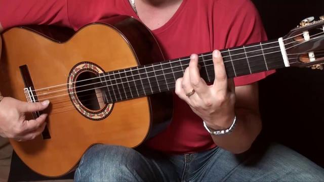 "Flamenco Guitar lesson & free Tabs: Estudio de pulgar ""El Pilar"" Rafael Cortes"