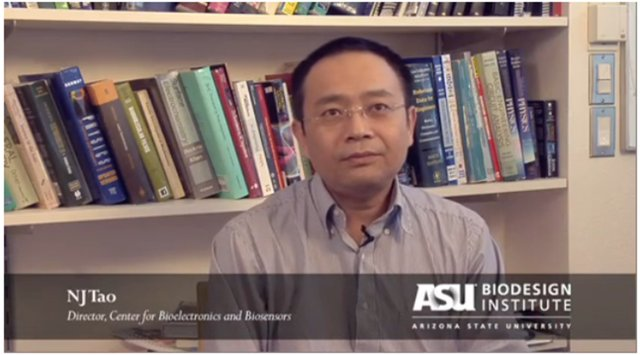 NJ Tao explains a new imaging technology to aid the detection of trace chemicals