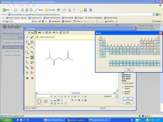 SciFinder Web Version: Using the Structure Drawing Editor