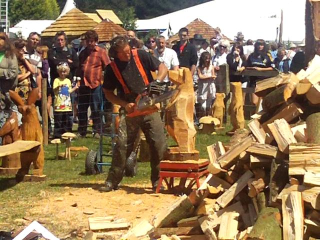 Chainsaw carving at the royal cornwall show