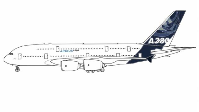 How to draw a380 for A380 coloring pages