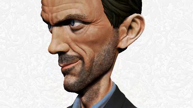 Caricature Hugh Laurie...