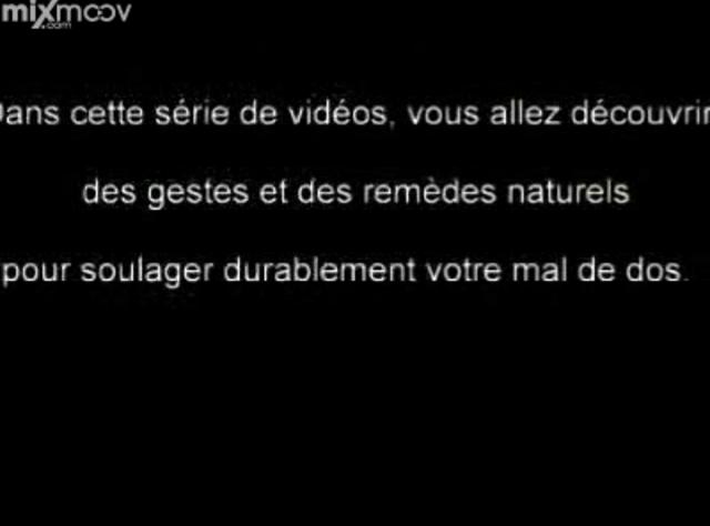mal de dos comment soulager rapidement les douleurs on vimeo. Black Bedroom Furniture Sets. Home Design Ideas