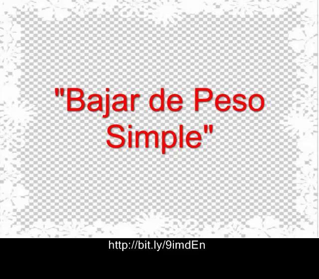 Para Bajar Peso Rapido - Bajar de Peso Simple on Vimeo