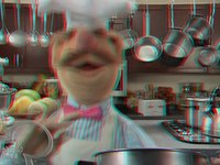 The Muppets: Pöpcørn HD 3-D (3-D Red/Blue-Cyan anaglyph cinema glasses are required) by mixedmultimedia