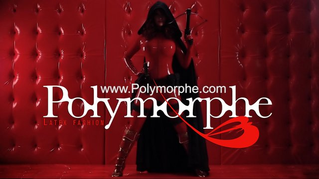Crimson - Heroes of the North :: Bianca Beauchamp plays Crimson, a Super-Villain in the web series Heroes of the North. This ad was shot for Polymorphe Latex Fashion, who designed the latex hero & villain costumes for the series.