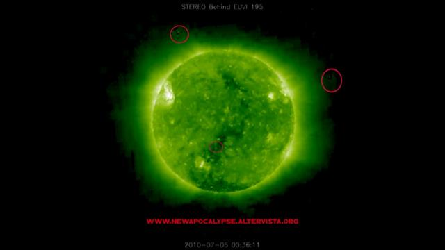GIANTS UFO NEAR THE SUN | ENORMI UFO-OVNI PIANETI INTORNO AL SOLE