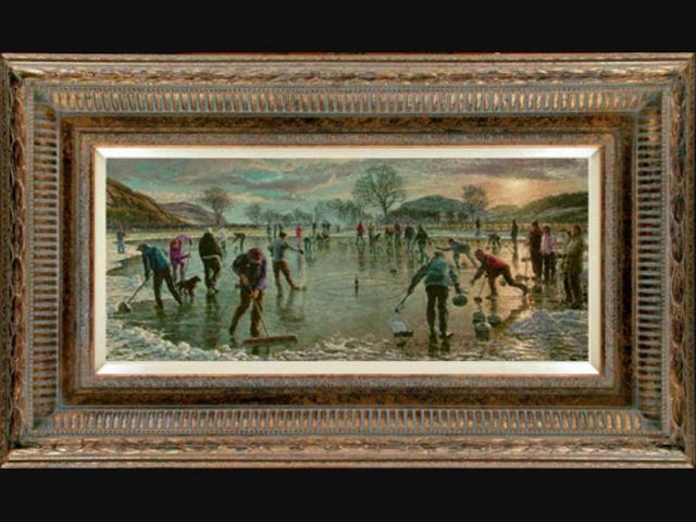 Miniature Oil Painting On Copper Signed By Paola
