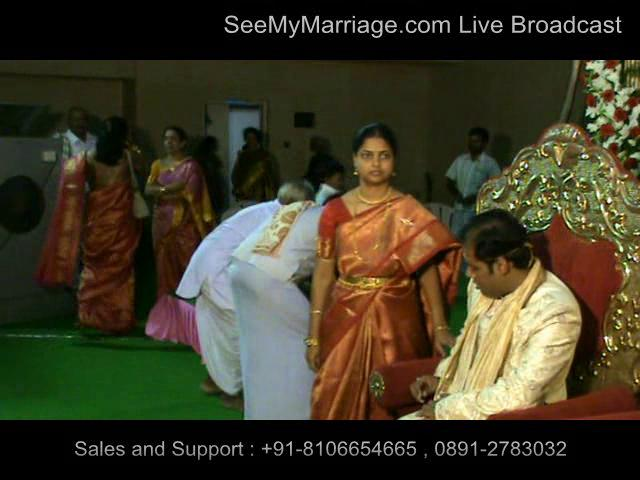 SeeMyMarriage.com Marriage Live Broadcast at Kamma Sangham Hyderabad
