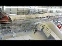 Virgin Atlantic plane livery time-lapse movie