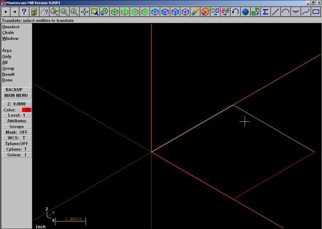Mastercam 9 - 3d wireframe