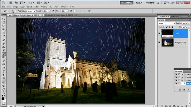 Star Trail Effect in Photoshop CS5