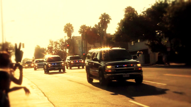 Obama Motorcade in Miracle Mile