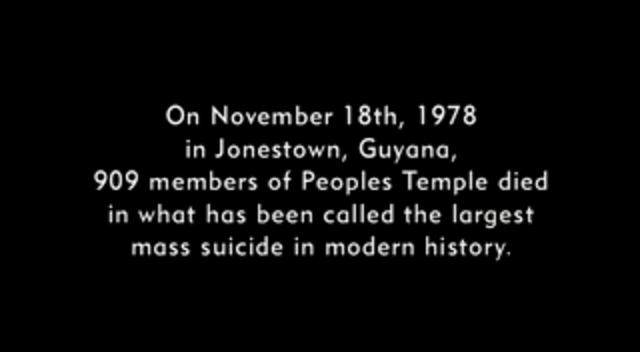 jonestown the life and death of peoples temple Peoples temple ran social and medical programs for the needy the death toll at jonestown on november 18, 1978 was 909 people, a third of them children.