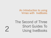 Integrating Vimeo into your liveBooks Site
