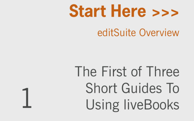 An Introduction to liveBooks editSuite