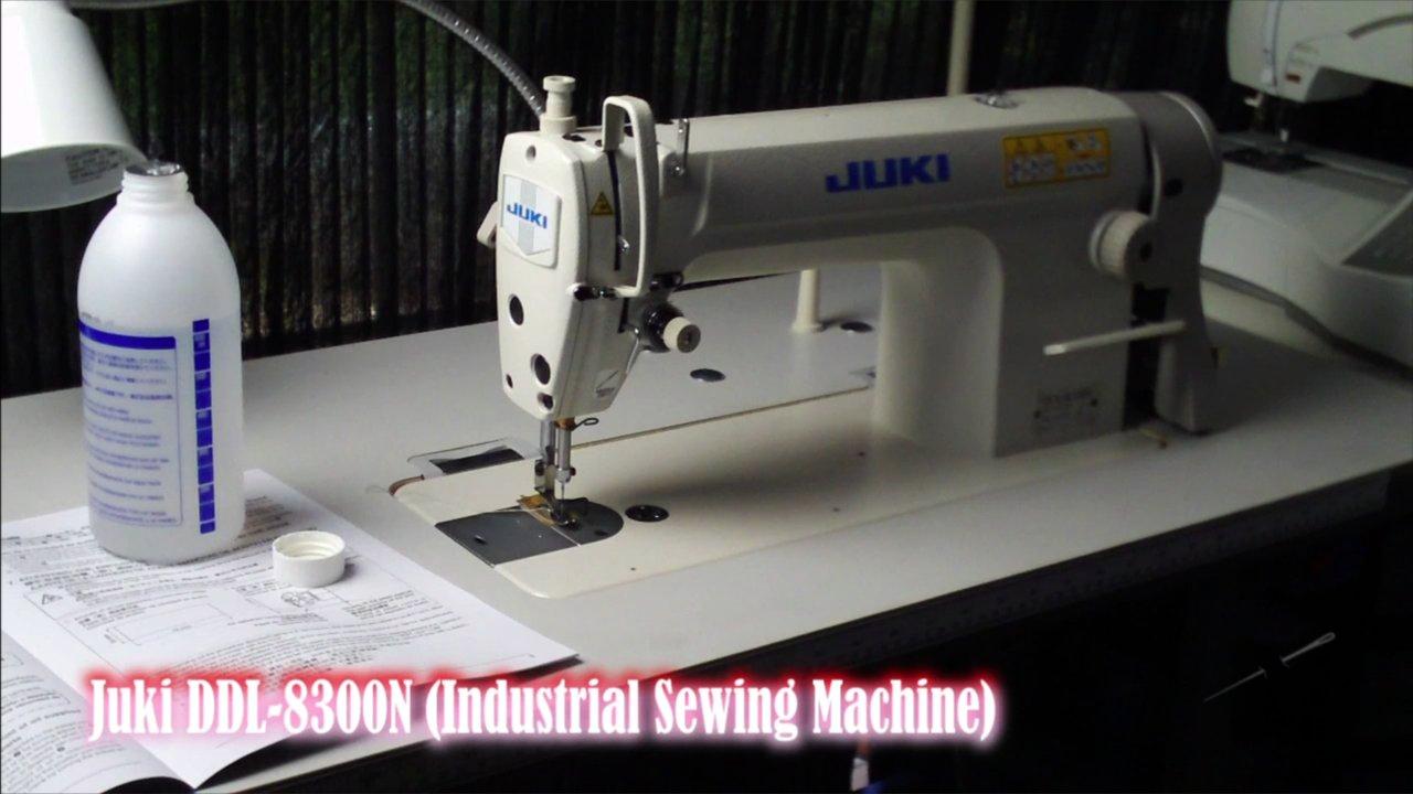 setting up a sewing machine