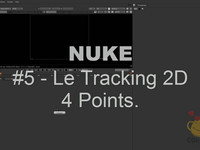 NUKE 5. Tracking 2D 4 Points