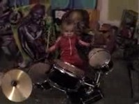 AMAZING 18 MONTH OLD DRUMMER!!!!