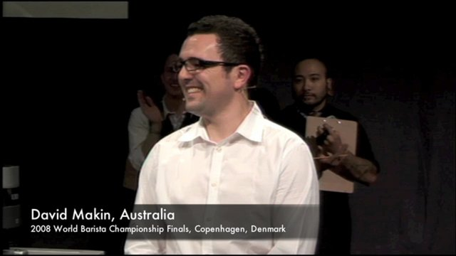 David makin australia 2008 world barista chionship final round