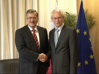 With the President of Poland, Bronislaw Komorowski