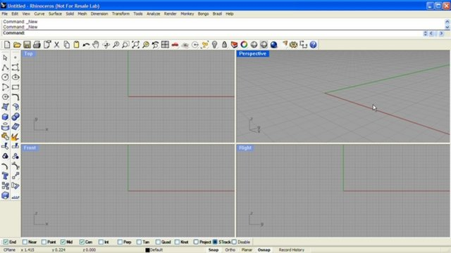 how to make blender interface look like rhino