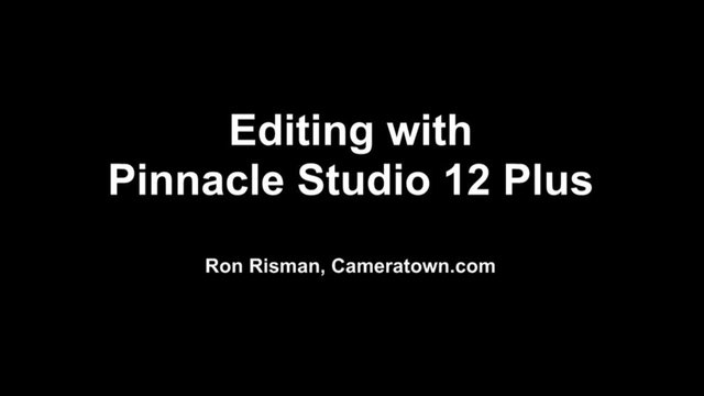 pinnacle studio 12 instruction manual