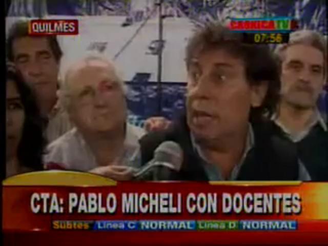 Pablo Micheli con Docentes