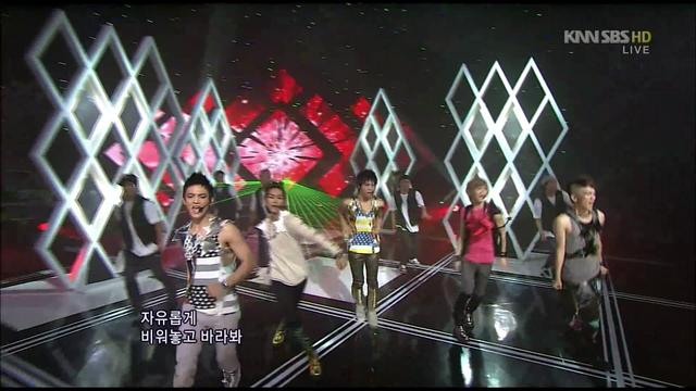 100912 SHINee - Lucifer (Remix Ver w/ Dance Break) @ Inkigayo Goodbye Stage